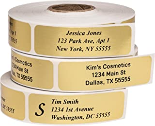 personalized gold stickers