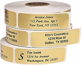 Best gold foil return address labels roll Reviews