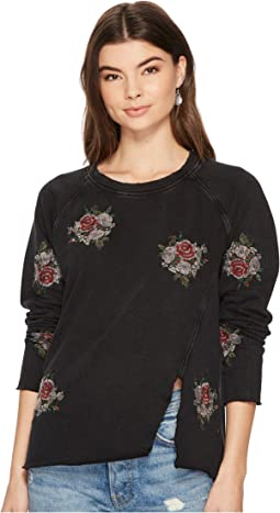 Lucky Brand Embroidered Pullover Flower Top