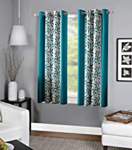 RD TREND Polyester Window Curtain 4 x 5 feet-Set of 2 (Aqua, 4 x 5)