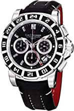 Carl F. Bucherer Men's 0010618133301 Patravi Black Chronograph Dial and Strap Watch