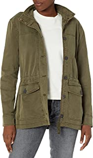 Lucky Brand womens Long Sleeve Button Up Two Pocket Utility Jacket Jacket