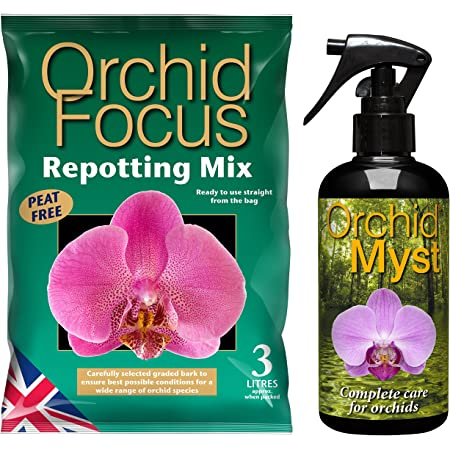 Growth Technology Orchid Myst 300ml and Orchid Repotting Mix and Compost 3L