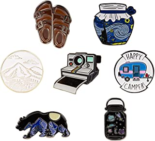 7 Outdoors Enamel Pins For Backpacks - enamel pin set | pins for jackets by The Carefree Bee(Set 2)
