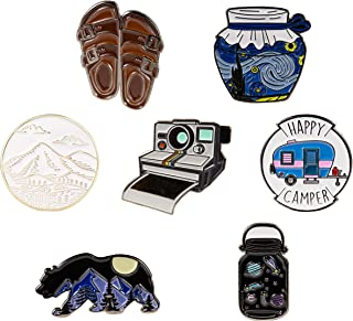 RipDesigns - 7 Outdoors Enamel Pins For Backpacks (Set 2)