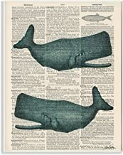 Stupell Home Décor Classic Novel Whales Wall Plaque Art, 10 x 0.5 x 15, Proudly Made in USA