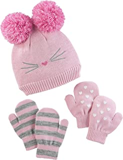 Baby and Toddler Girls' Hat and Mitten Set