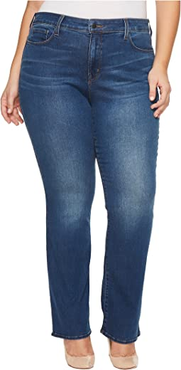 NYDJ Plus Size - Plus Size Marilyn Straight Jeans in Smart Embrace Denim in Noma
