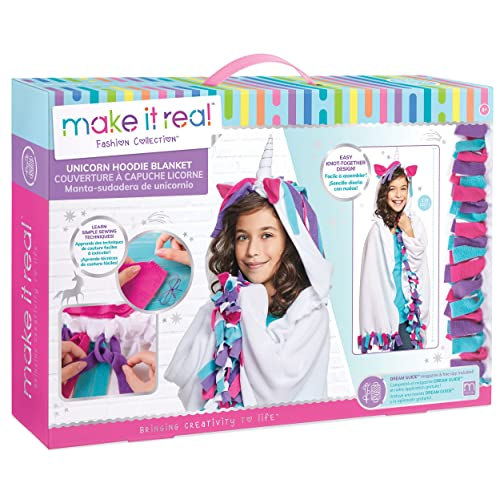 Make It Real Unicorn Hoodie Blanket. Wearable Unicorn Hooded Blanket Arts and Crafts Kit for