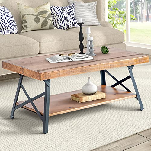 Rustic Wood Coffee Tables Amazon Com