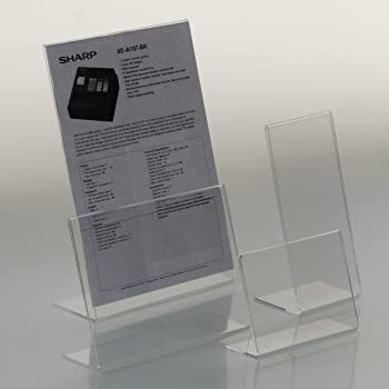 EPOSGEAR® A4 Portrait Angled Acrylic Lean Back to Counter Menu Leaflet  Flyer Poster Holder Display Stands (5): Amazon.co.uk: Office Products