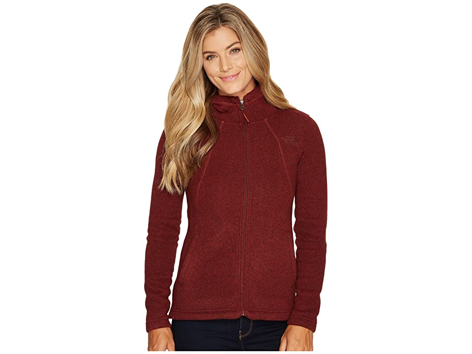 The North Face Crescent Full Zip Hoodie (Barolo Red Heather) Women