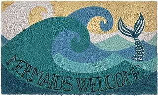 Liora Manne Natura Coastal Beach Mermaids Ocean Outdoor Welcome Coir Door Mat, 18