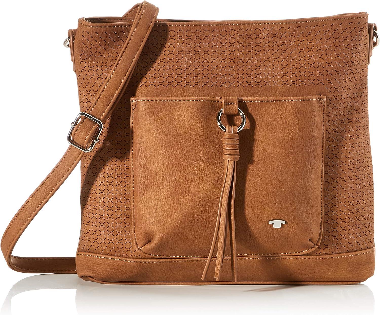 Tom Tailor Umhängetasche Damen Braun Livorno 29x5x25 5 Cm Schultertasche Handtasche Schuhe Handtaschen