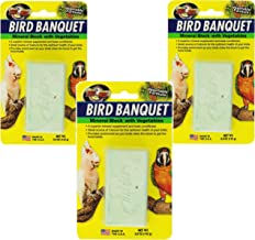 (3 Pack) Zoo Med Mineral Block with Vegetables Bird Banquet, 5-Ounce Each