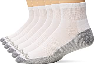 جوارب للكاحل فروت اوف لوم للرجال (6 عبوات) مع وسادة وداعم لاخمص القدم