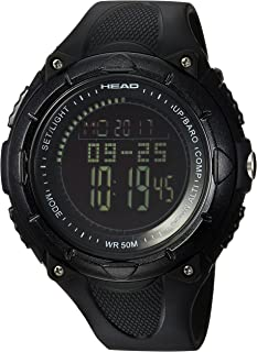 HEAD Unisex-Adult Quartz Watch, Digital Display and Rubber Strap HE-103-01