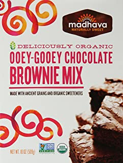 Madhava Honey, Brownie Mix Ancient Grains Organic, 18 Ounce