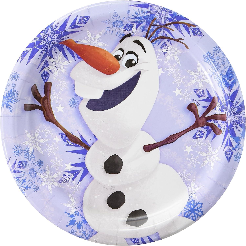Disney Frozen Olaf 9 Inch Plates [8 Per Pack]