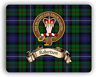 Robertson Scottish Clan Tartan Crest Computer Mouse Pad