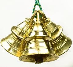 "AzKrafts Lot 3 pcs 2.5"" Ht Vintage Style Indian D�cor Brass Bells Elephant Cow Camel Bells"