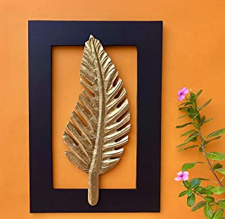 Maple Craft Wood Brass Wall Art (11 x 16 inch, Black & Gold)