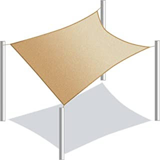 ALEKO SSNREC20X16BE Sun Shade Sail Rectangle Water Resistant Canopy Tent Replacement for Yard Patio Pool 20 x 16 Feet Beige