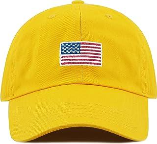 92441593e0311 THE HAT DEPOT Washed 100% Cotton Dad HAT Flag Low Profile Adjustable Baseball  Cap