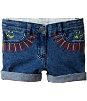 Stella McCartney Kids - Eddie Rainbow Embroidered Denim Shorts (Toddler/Little Kids/Big Kids)
