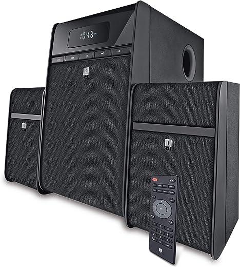 iBall Tarang Classic 2.1 Multimedia Speaker with Bluetooth, USB, FM Radio & Remote Control (Black)