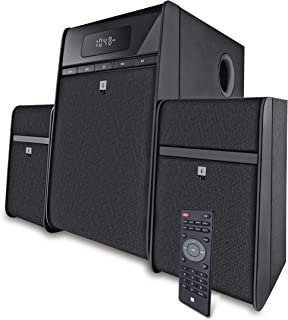 iBall Tarang Classic 2.1 Multimedia Speaker with Bluetooth, USB, FM Radio & Remote Control (Black)
