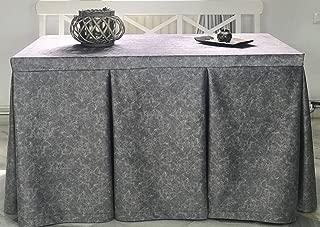 INUSUAL Falda o Ropa de Camilla Rectangular Invierno 120X70X72 Modelo IBI, Textura Suave Satinado Efecto mármol (Plata)