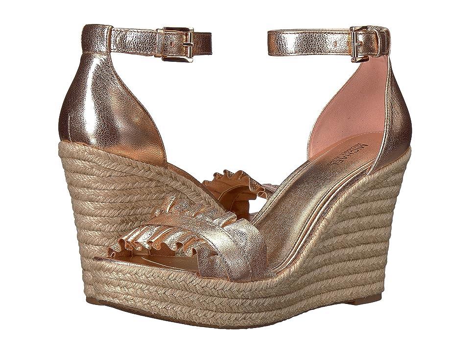 MICHAEL Michael Kors Bella Wedge Sandal (Soft Pink Metallic Nappa) Women