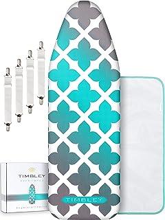TIMBLEY® housse de planche à repasser 120 x 40 cm - Réflexion vapeur et la chaleur - rembourrage extra épais - convient ég...