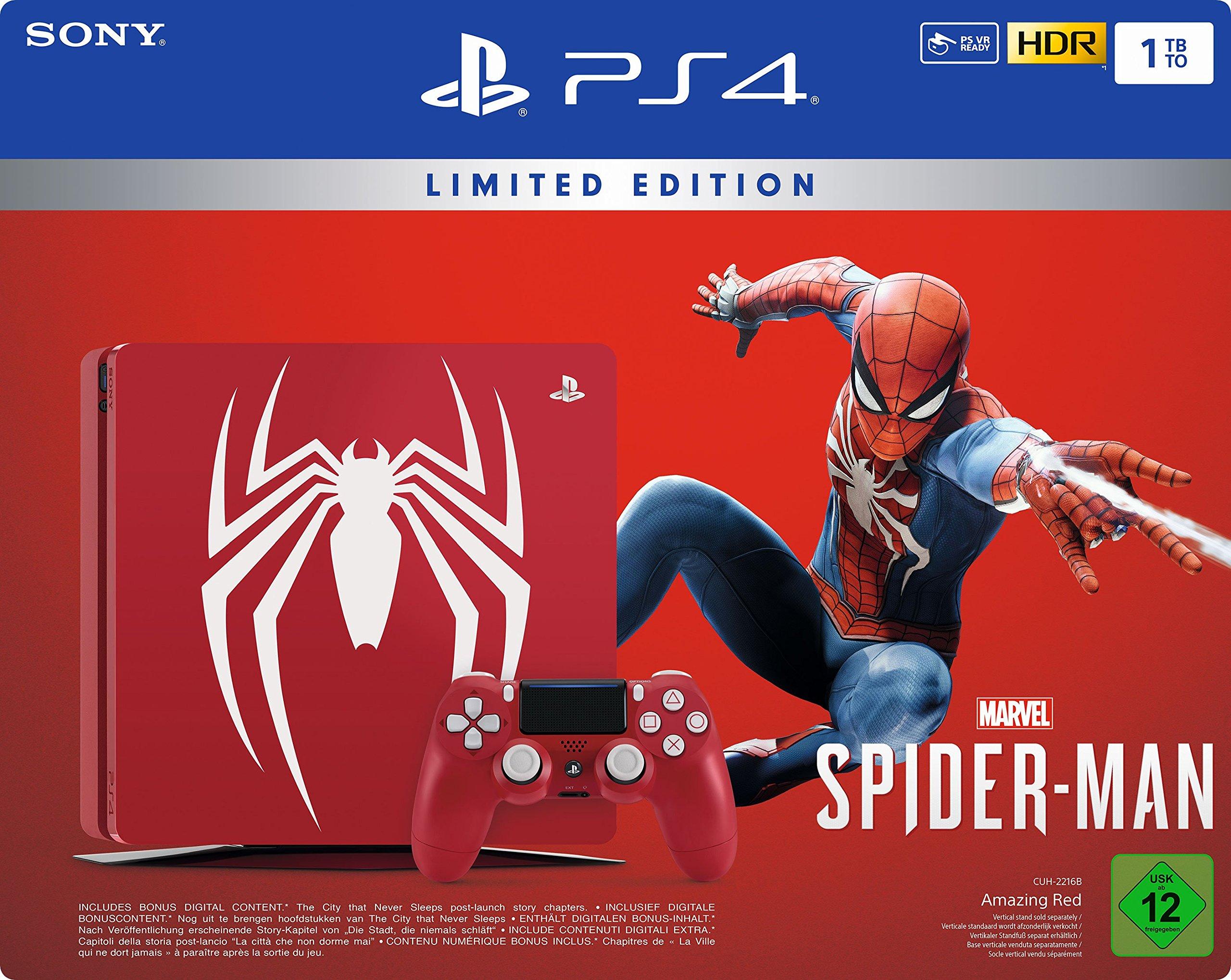 Sony PS4 1TB + Marvel`s Spider-Man 1000GB (Importación Alemana): Amazon.es: Videojuegos