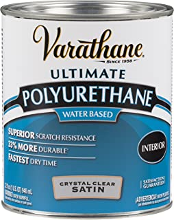Rust-Oleum 200241H Varathane Ultimate Polyurethane Water Based, Quart, Satin
