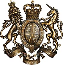 Design Toscano DB383103 Royal Coat of Arms of Great Britain Wall Sculpture,full color