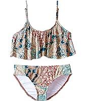 O'Neill Kids - Parker Ruffle Top Bikini Set (Little Kids/Big Kids)