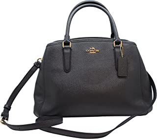 COACH F57527 SMALL MARGOT CARRYALL IN CROSSGRAIN LEATHER MIDNIGHT