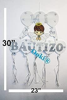 Silver Prayer Halo Mi Bautizo Angel Wings Figure Boy Girl 30