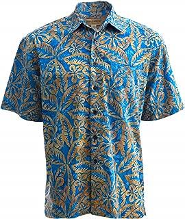 Johari West Floral Sky Men's Tropical Hawaiian Cotton Shirt