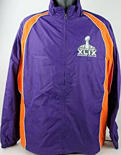 Super Bowl XLIX Arizona 02.01.15 NFL Windbreaker Jacket Mens Size XL