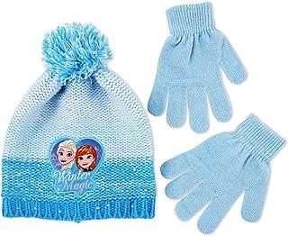 دختران کوچک دیزنی منجمد السا و آنا بانی کلاه و دستکش مجموعه هوا سرد ، آبی ، سن 4-7 سالگی