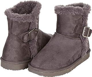 Floopi Warm Winter Boots for Women- Classic Mid-Calf Cut, Eco-Friendly Suede Exterior, Faux Fur- Plush Interior- Anti-Skid...