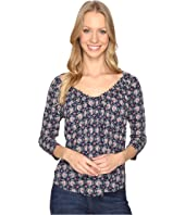 Lucky Brand - Printed Pintuck Top