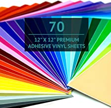 """Bright Idea Permanent Vinyl Sheets - 70 Pack 12""""x12"""" 