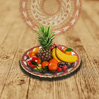 YGTEXIM Woven Wall Basket Decor - Woven Bowls Trays Hanging Baskets Outdoor Indoor Bowls For Home Bathroom Table Wall Art. Ru