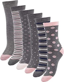 Womens Bamboo Casual Crew Socks Anti Odor Socks For Sweaty Feet Size 9-11 Grey