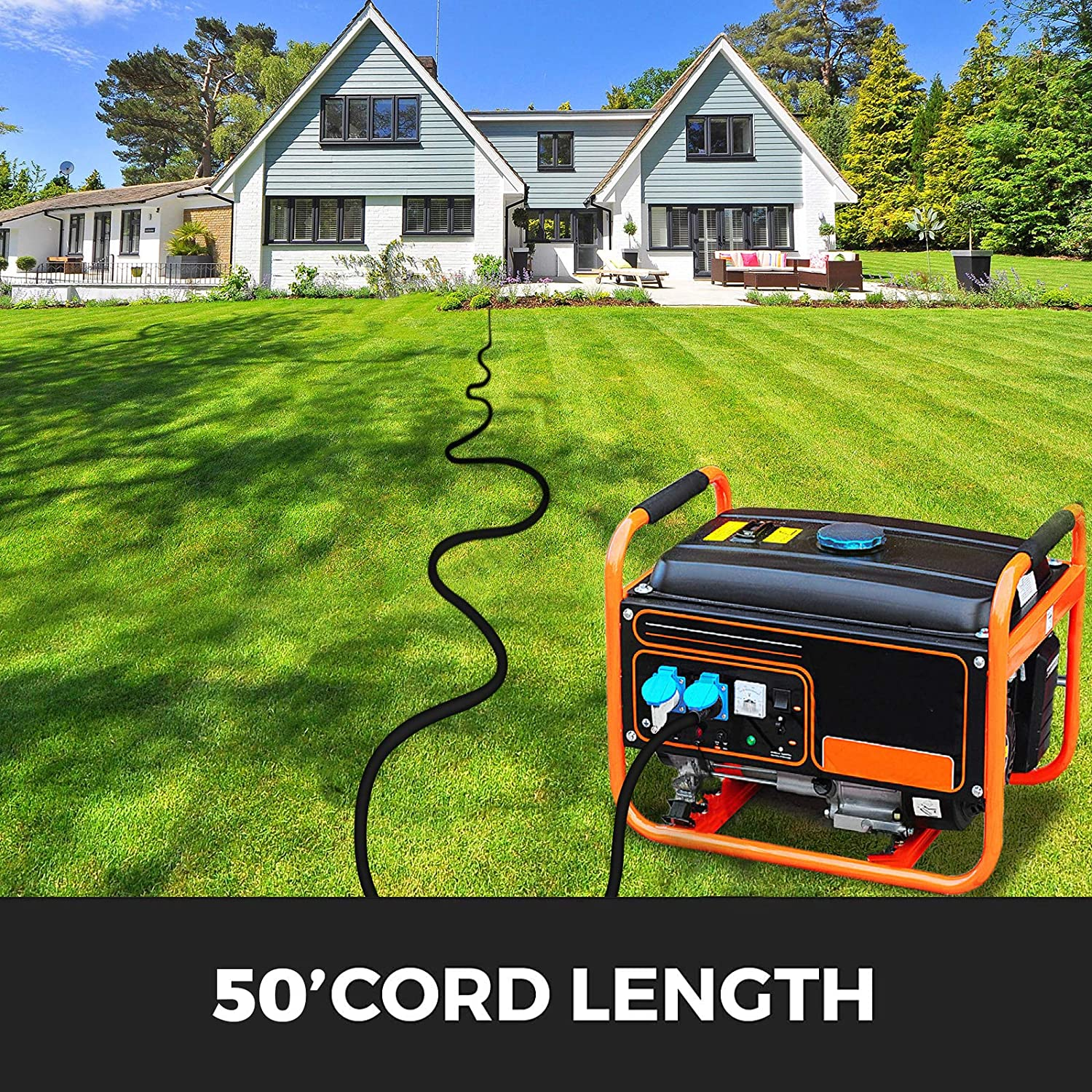 Mophorn 40Ft 30 Amp Generator Extension Cord 4 Wire 10 Gauge Generator Cord 125V 250V UL Listed Generator Power Cord Twist Lock Connectors 40 Ft 30 Amp