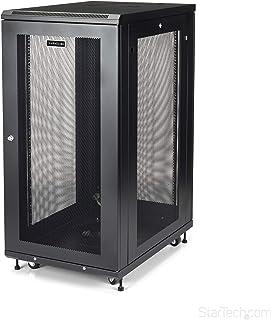 "StarTech.com 24U Server Rack Cabinet - 4-Post Adjustable Depth (2"" to 30"") Network Equipment Rack Enclosure w/Casters/Cable Management (RK2433BKM)"
